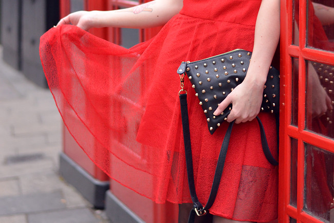 Red Carven dress blogger 5