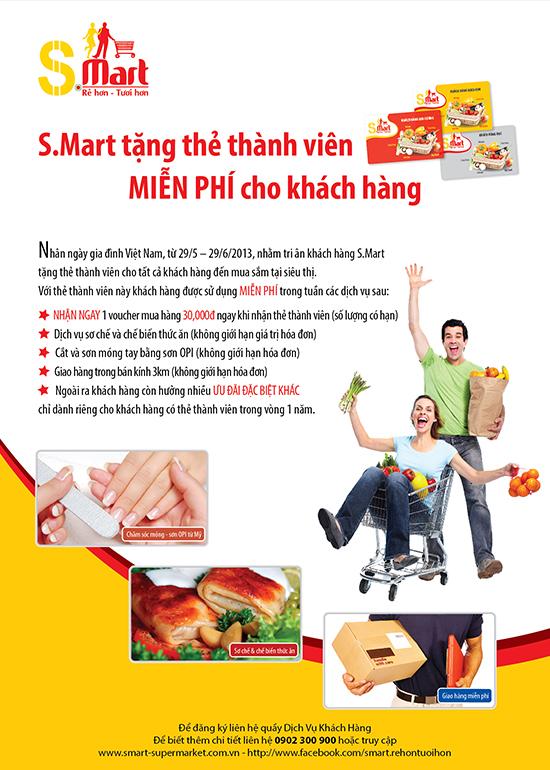 SMART tang the thanh vien mien phi cho khach hang
