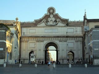 Зображення Porta del Popolo. road italy rome spring gate piazza popolo 2014