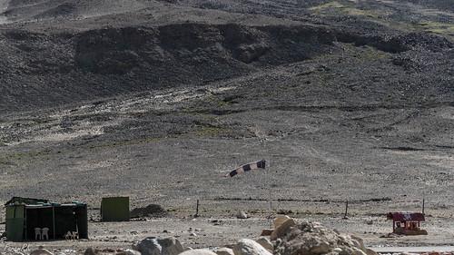 helipad ladakh windsock