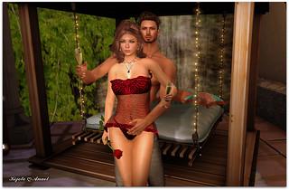Virtual Trends: Destiny Style Lingerie KIKA Red