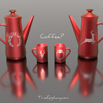 Christmas Coffee Set 3D Models