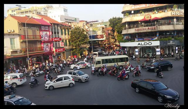 Viaje a Vietnam - Tráfico en Hanoi