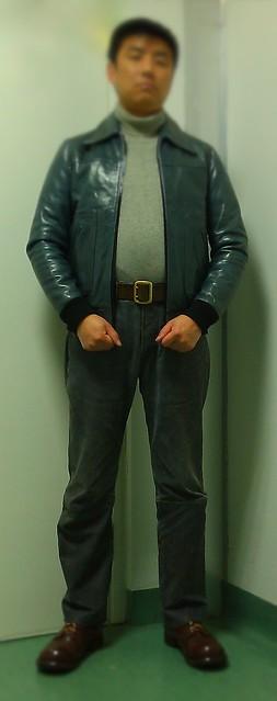 Leather Luftwaffe jacket and belt,1