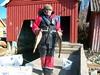 Vorn Bootshaus Bernd mit 2 Dorschen