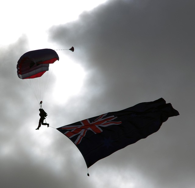 Red Berets parachutist - Wings Over Illawarra airshow