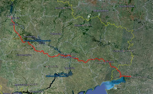 Our route across Ukraine by train