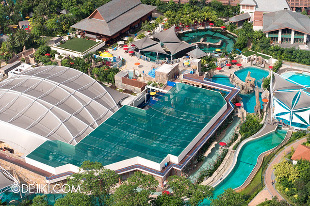 Marine Life Park Singapore - from the air May 2013 - Open Ocean Tank