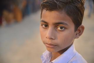 A young boy - Maha Kumbh Mela