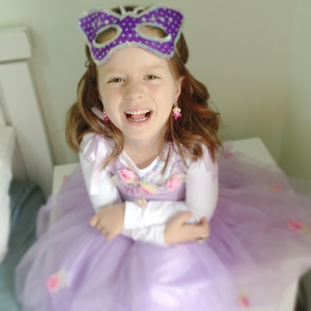 The party girl getting ready in all her fairy glamour #firsttimewithcurlyhair #birthdaygirl  #bringonthefairyparty