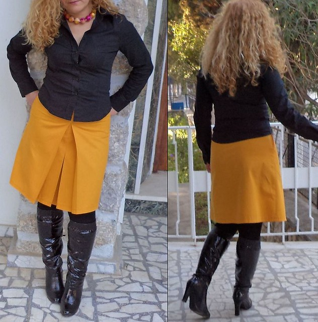 yellow denim skirt flickr photo