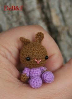 OOAK Thread Artist Bear MICRO Miniature Crochet ToY FoR BJD MSD SD Doll ~DeB&F