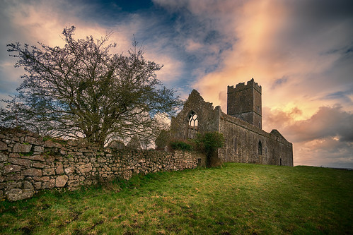 Evening at Clare Abbey