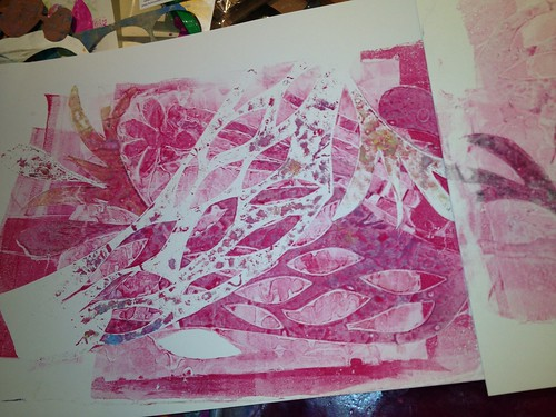 Gel plate mono printing