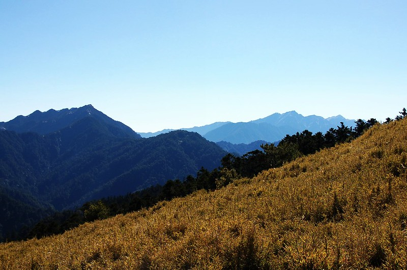 畢祿、奇萊連峰(From 閂山)