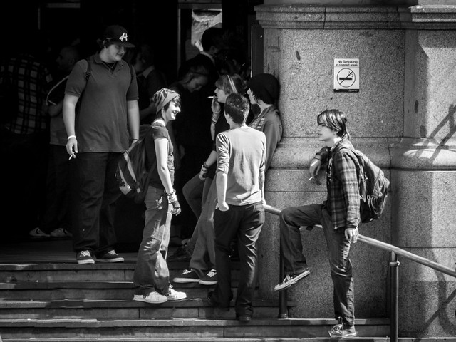 Meet up on the steps