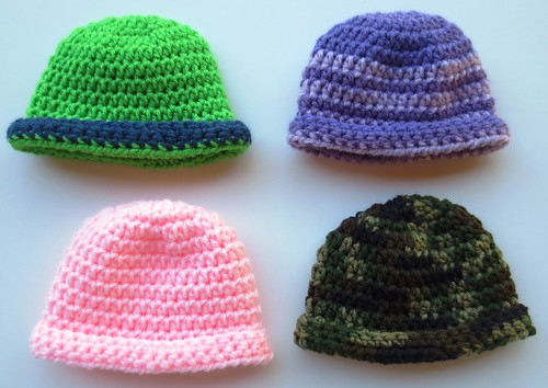 Rolled Brim Baby Hat Pattern