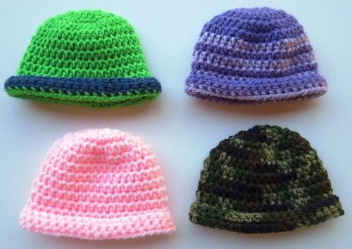 Rolled Brim Baby Hat Pattern
