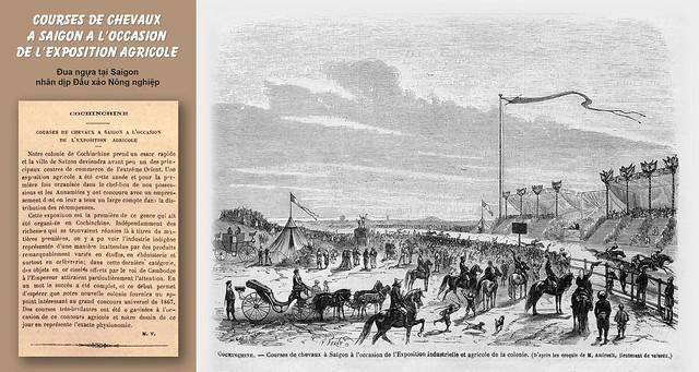 SAIGON 1866 - ĐUA NGỰA Ở SAIGON nhân dịp Đấu xảo Nông nghiệp