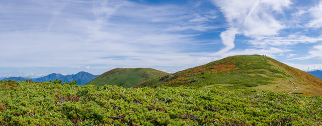 巻機山(最高点)・牛ヶ岳と越後三山