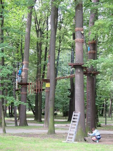 Park Miejski - trasa kajakowa i trakt linowy