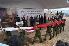 Gobierno de Oaxaca, Encabeza SEDESOH ceremonia de izamiento del 195 Aniversario de la Consumación de la Independencia Nacional, Oaxaca