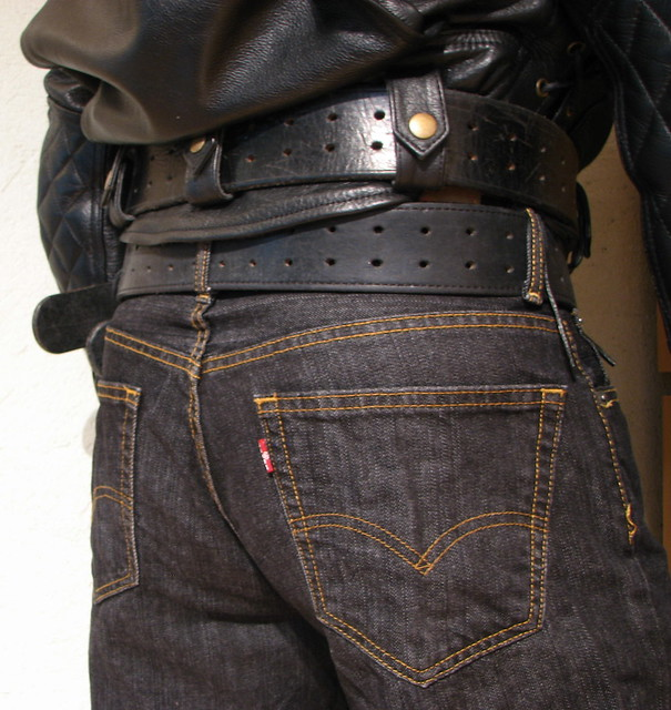 Bullhide angry belt 2x80 and 2,25x48 Levis 00560 0012 33x34 Black Rince Leather Maniacs MC-Jakke L B4S 2114 2016-10-02