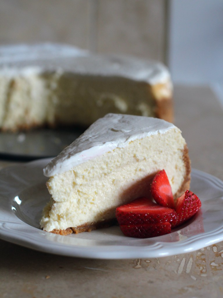 tall, creamy cheesecake