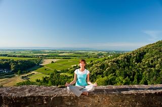 Meditation mit Weitblick: Burg Landeck in der Pfalz