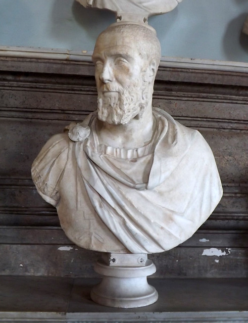Bust of Pupienus in the Capitoline Museum, July 2012