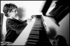 musician, pianist, piano, musical keyboard, keyboard, music, jazz pianist, monochrome photography, monochrome, black-and-white, black,