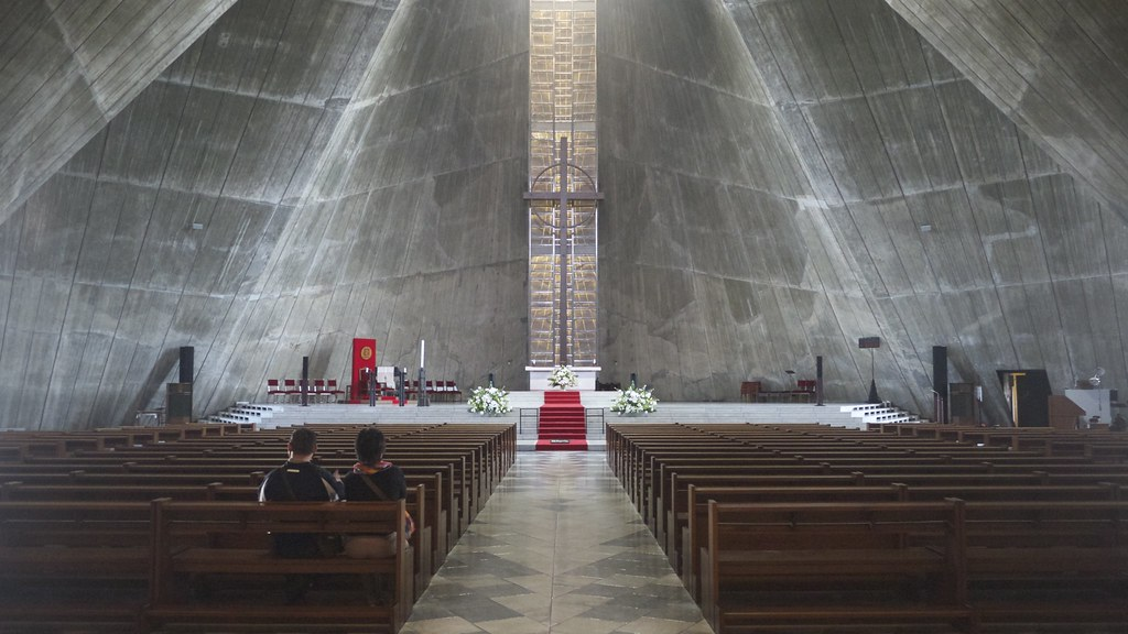 St. Mary's Cast Concrete Interior