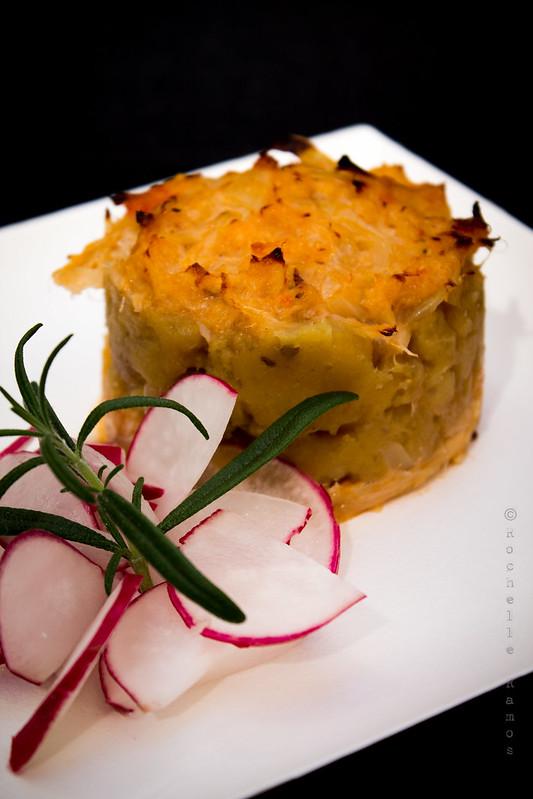 Nobre / Spazio Buondi - Milfolhas de bacalhau com sapateira e esmagado de batata doce