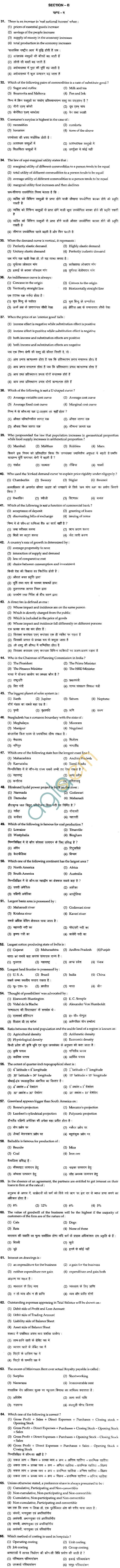 BHU UET 2011 B.Ed Social Science Question Paper