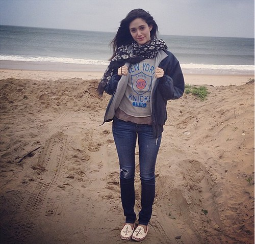 Emmy Rossum New York Knicks Shirt