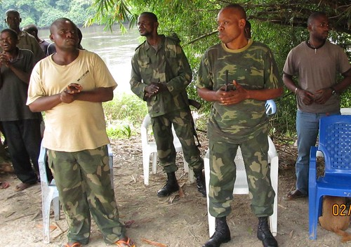 commanders and bofenda at funeral