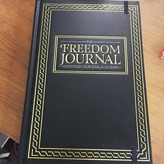 I ordered this back in Feb 2016 I'm finally opening it up and accomplishing my goal in 100 days #freedomjournal #noprocrastination #goals