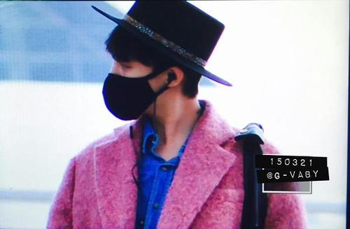 Big Bang - Incheon Airport - 21mar2015 - G-Dragon - G_Vaby - 01
