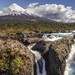 Osorno Volcan from Petrohué Waterfalls