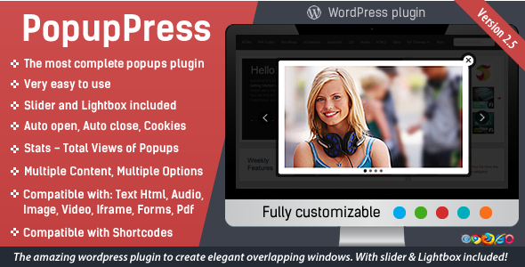 PopupPress v2.7 - Popups with Slider & Lightbox for WP