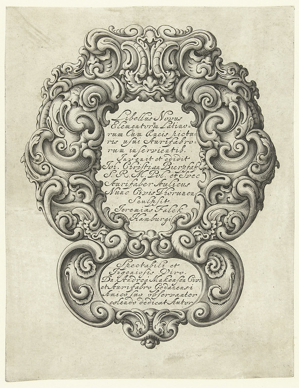 Title page - designs by Jan Chrystian Bierpfaff, 1645-1650