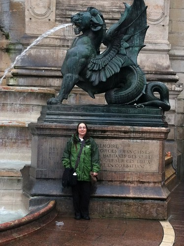 Me, at the Fontaine St. Michel