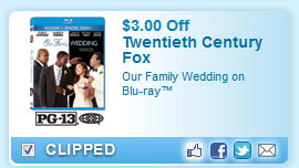 $3.00 Off Our Family Wedding On Blu-ray Coupon