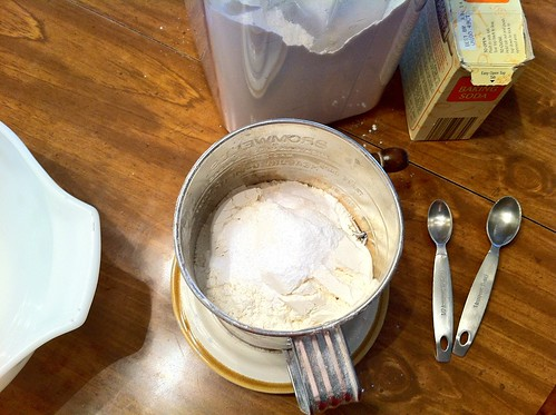 Sift Together Flour and Baking Soda