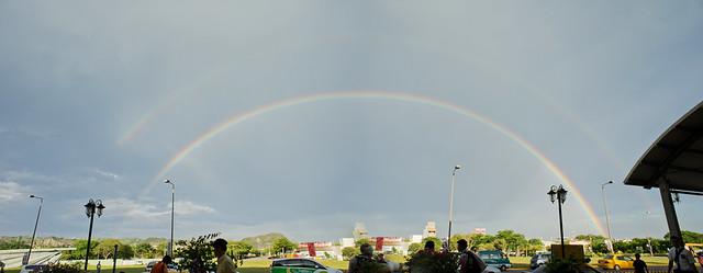 台東火車站前的大彩虹