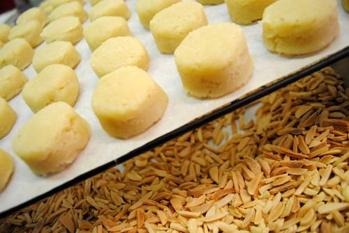 Macarons avant la cuisson