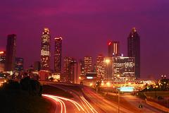 atlanta city lights at night