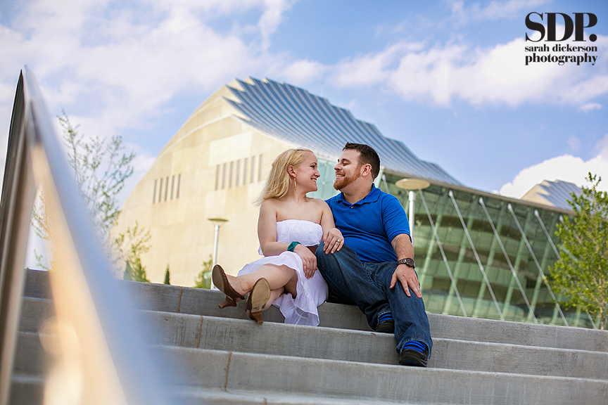 Kansas City Kauffman Performing Arts Center engagement photography