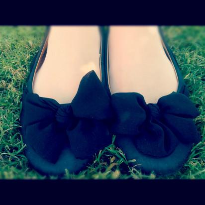 Ribbon Ballerina Flats