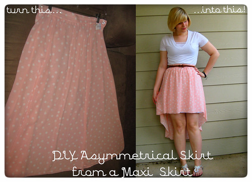 DIY Asymmetrical Skirt